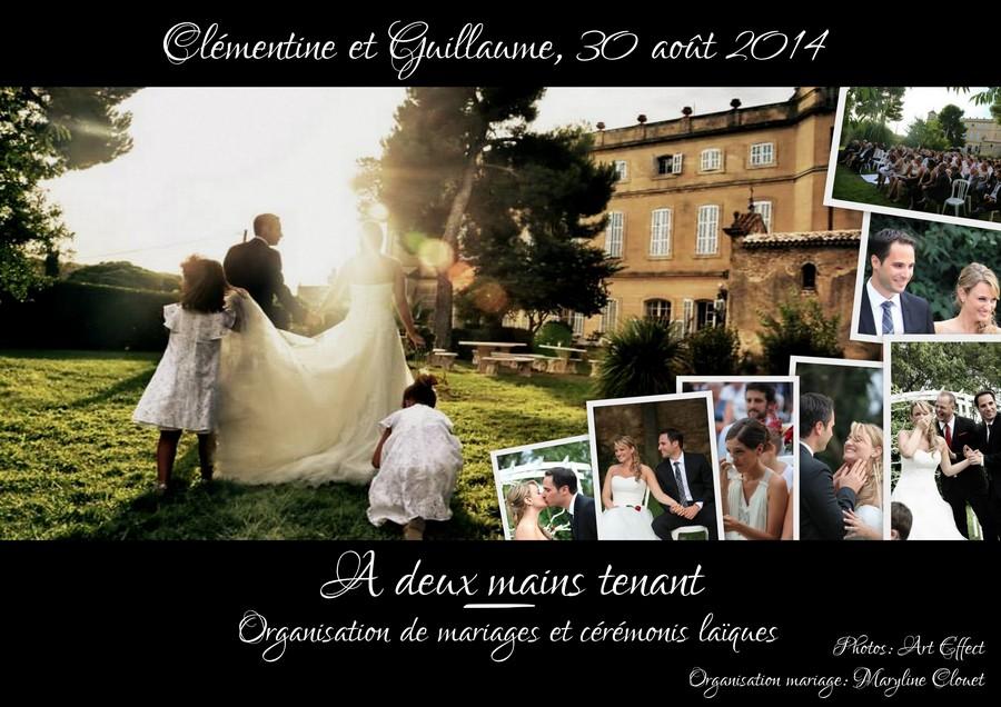 Notre cérémonie laïque {Clémentine et Guillaume, 30 août 2014 }