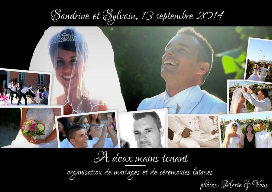 Notre cérémonie laïque (par Sandrine et Sylvain, 13 septembre 2014)