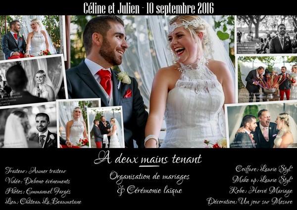 Mariage Céline et Julien - 10 septembre 2016