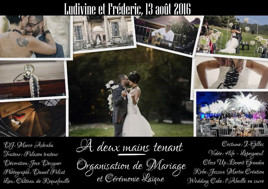 Mariage Ludivine et Fréderic - 13 août 2016 - A deux mains tenant