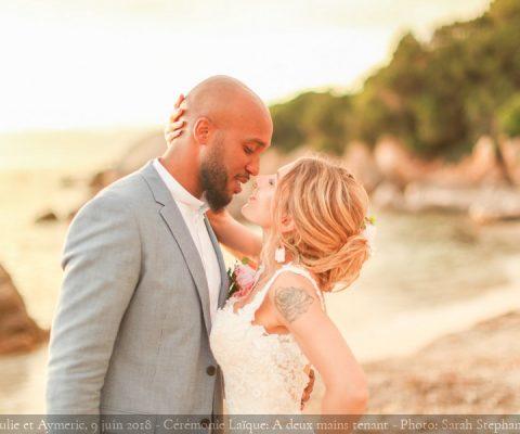 Corse : Cérémonie Laïque sur la plage {Julie et Aymeric, 7 juin 2018}