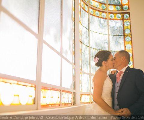 Stéphanie et David: La cérémonie laïque et toutes ses émotions {30 juin 2018}