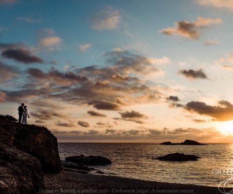 Cérémonie laïque sur l'île des Embiez {Dorine et Roman, 6 octobre 2018}